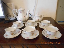 Zsolnay barokk kávéskészlet