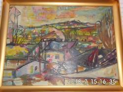 Stark Anna (1922-2000) : Óbuda 60x80 cm olaj vászon