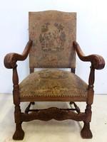 Antik gobelines fotel-karosszék