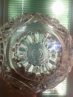 ÓLOMKRISTÁLY BONBONIER KÉZI CSISZOLÁS 11 cm magas 47 cm a legszélesebb körmérete 20 cm átmérő