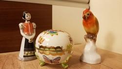 Herendi + hollóházi porcelánok