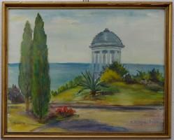 Akvarell 1978 E. Kriga , üvegezett keretben, szignózott.