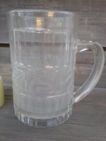 Régi nagyméretű üvegkorsó