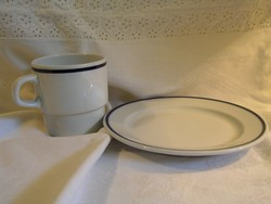 Alföldi porcelán kistányér + bögre