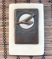 REPÜLŐS díj Korponai P. díja 1950., réz-márvány