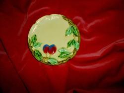 Körmöcbányai jelzett majolika  fali tányér