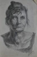 Ismeretlen művész: Női portré, 1926