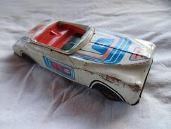 Retro,Lemezárugyári játék, kabrió Packard , lemezautó, lendkerekes