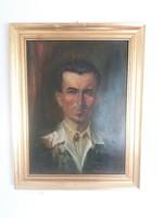 Régi jelzett portré festmény