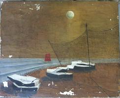 Rejtélyes éjszakai jelenet - ismeretlen szürrealista festő
