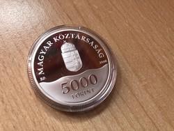 2008 Olimpia ezüst 5000 Ft 31,46 gramm 0,925 PP