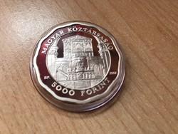 Debreceni nagytemplom ezüst 5000 Ft 31,46 gramm 0,925 PP R