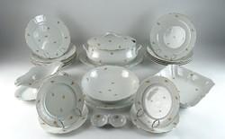 0R935 Régi Meisseni porcelán étkészlet 22 darab