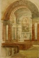 Borsa Antal/1902 – 1974/:Templombelső/1948/-győri festő