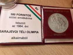 Sarajevo ezüst 500 FT ,eredeti MNB tok 28 gramm