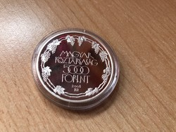 Tokaji borvidék ezüst 5000 Ft 31,46 gramm 0,925 PP