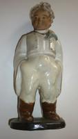 Fiúcska,festett kerámia  szobor
