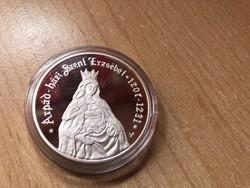 Árpád házi szt. Erzsébet ezüst 5000 Ft 31,46 gramm 0,925 PP