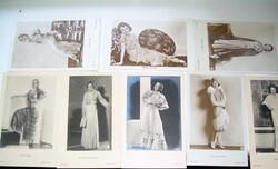 Sztárfotó fotólapok 30-as évekből Dolores del Rio, Janet Gaynor stb. art deco, divat,, csipkecsodák