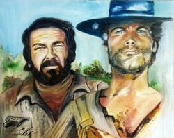 A legendák - Bud Spencer és Terence Hill Olajfestmény / The Legends Oil painting