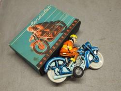 Retro,dobozos Lemezárugyári játék, motoros, motor, lemezjáték