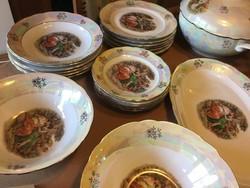 Csodás Kahla porcelán étkészlet, madonnás, 6 személyes