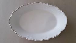 Régi Zsolnay porcelán pecsenyés tál fehér kínáló nagy tálca 37 cm