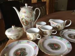 Kahla porcelán madonnás teás készlet, gyönyörű, 3 személyes