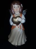 Goebel szívet tartó angyal Új dobozában