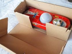 Retro,dobozos Lemezárugyári játék, holdjáró, autó