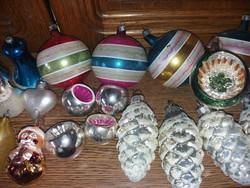 Antik Üveg Karácsonyfadíszek