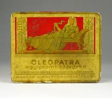 0R459 Antik CLEOPATRA cigarettás pléh doboz