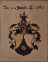 Knassto család címere, akvarelll