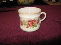 Zsolnay  rózsás  csésze  pajzsos  jelzés