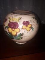Régi kézzel festett kerámia váza