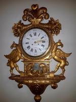 Antik aranyozott fali óra!!!