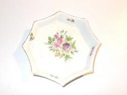 Régi virágmintás Herendi porcelán tálka