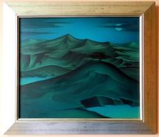David Beeri (Beri Károly 1951- ) -  Három fa (Lélek-táj 1996) - olaj / vászon