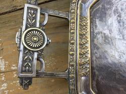 Nagy argentor ezüstözött tálca!!szép régi!!
