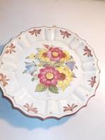 Antik virágos falitányér (AA-0720)