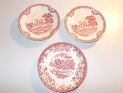 3 darab angol porcelán tányér hiányzó készlet pótlására