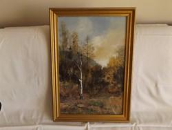 Festmény - Erdőrészlet