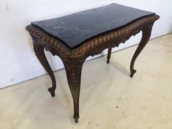 Antik márványlapos asztal