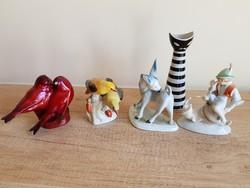 Herendi , Zsolnay porcelán figura csomag