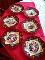 6 személyes Altwien süteményes tányér készlet