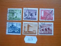 8-80 FILLÉR 1952 Épületek 6 DB 107