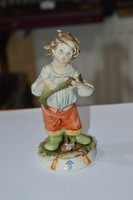Nápolyi porcelán figura