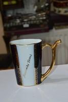 Aranyozott porcelán pohár