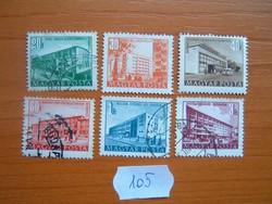20-60 FILLÉR 1+3 FORINT 1951 Épületek 6 DB 105