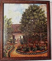 Falusi ház ( olaj, vászon ) festmény,  1918